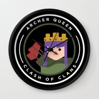 archer Wall Clocks featuring Archer Queen by chiams