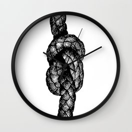 Figure of Eight Knot Wall Clock