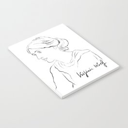 Virginia Woolf Portrait with Signature Notebook