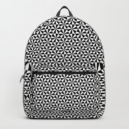 Black and white triangles pattern Backpack