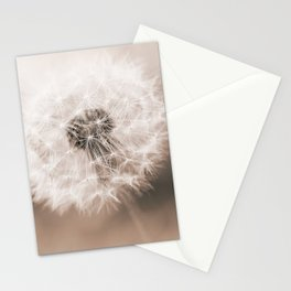 Spring Dandelion in Sepia Stationery Cards