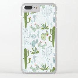 Cactus Decor Clear iPhone Case