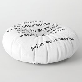 To Be Yourself, Ralph Waldo Emerson Quote Floor Pillow