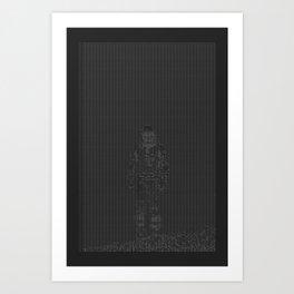 Posters Made Of Code: Interstellar Art Print