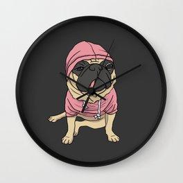 Puggin' So Hard Wall Clock