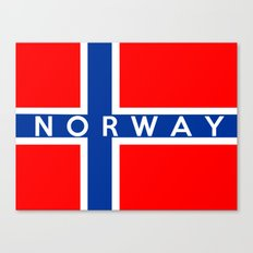 Norway country flag name text Canvas Print