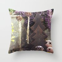 deco Throw Pillows featuring Deco by Kristin Kaiser