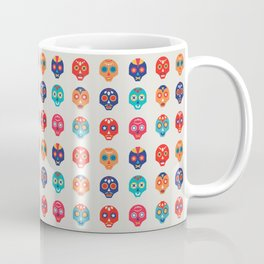 Cute Mexican Wrestling Lucha Masks Pattern Coffee Mug