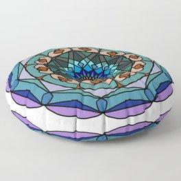 Mandala in vivid colors for energy obtaining Floor Pillow