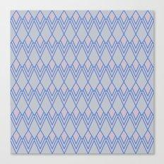 Art Deco Diamond Teardrop - Blue Canvas Print