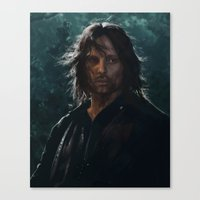 gondor Canvas Prints featuring King of Gondor and Arnor by hart-coco