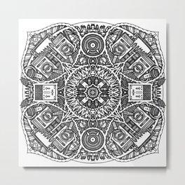 Mandala Doppia H Metal Print