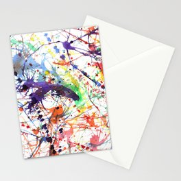 Watercolor Splatters Stationery Cards