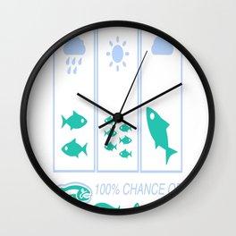 Weekend Fishing Wall Clock