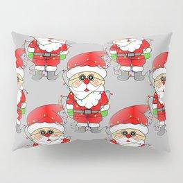 Whimsical Santas - Merry Christmas Pillow Sham