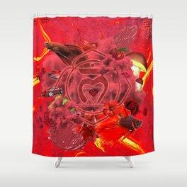 TSV I S1.04 || RED Shower Curtain