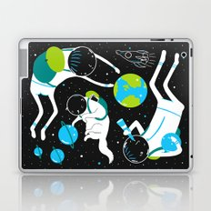 A Day Out In Space - Black Laptop & iPad Skin