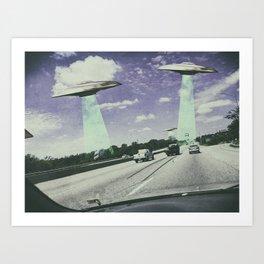 UFO Sightings- Highway Art Print