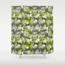 Painterly Gary Green Camouflage Shower Curtain