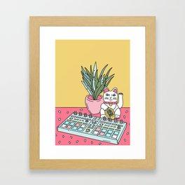 Sad cat pad Framed Art Print
