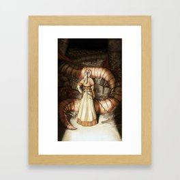 The Midwife and the Lindworm Framed Art Print