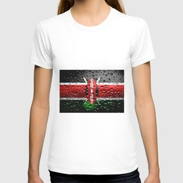 Flag of Kenya - Raindrops T-shirt