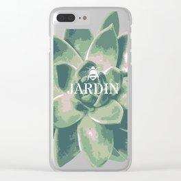 Jardin Succulent Botanical Design Clear iPhone Case