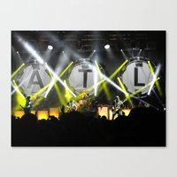 all time low Canvas Prints featuring All Time Low Live by andiechrist