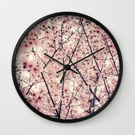 Blizzard of Blossoms Wall Clock