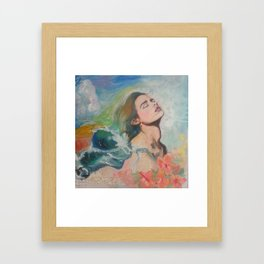 Hair like Waves Framed Art Print
