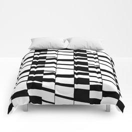 Slanting Rectangles - Black and White Graphic Art by Menega Sabidussi Comforters