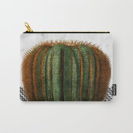 Cactus Ball on White Marble and Zigzag Wall Carry-All Pouch
