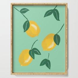 Modern lemon pattern Serving Tray
