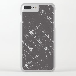 Pastale Neutrale - Charcoal Grey Clear iPhone Case