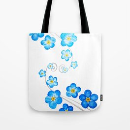 blue forget me not watercolor 2017 Tote Bag