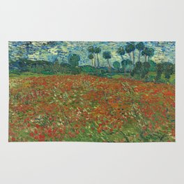 Vincent Van Gogh - Poppy field June Rug