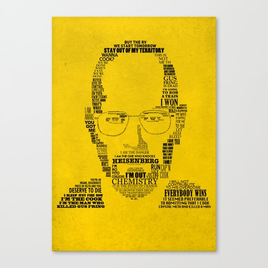 Breaking Bad:  Walter White Canvas Print