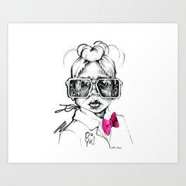 #STUKGIRL Penny Art Print