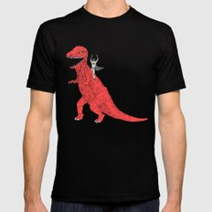 Dinosaur B Forever Black MEDIUM Mens Fitted Tee