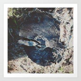 Pine branch circle Art Print