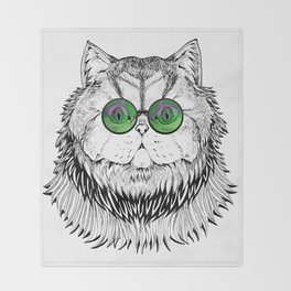 Catty Kitty Chique Throw Blanket