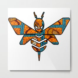 Golden Bumble Bee Metal Print