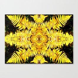 Fern Yellow Canvas Print