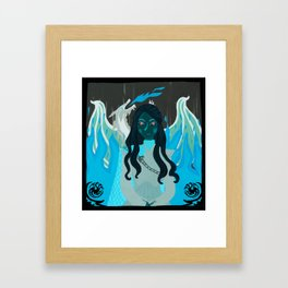 khalessi of the grass sea Framed Art Print