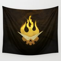 movie poster Wall Tapestries featuring Gurren Lagann Movie Poster by 5eth