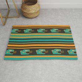 Aztec Mexican Mythological Jaguar Pattern Rug