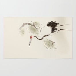 Oriental Red-Crowned Crane 002 Rug