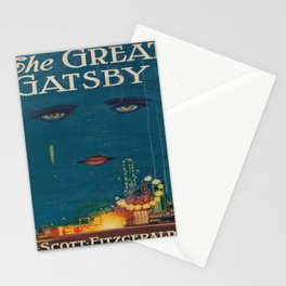 The Great Gatsby vintage book cover - Fitzgerald - muted tones Stationery Cards