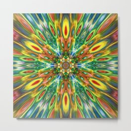 Multicolour Starburst 12 Metal Print