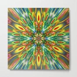 Multicolour Starburst 12 Metal Print
